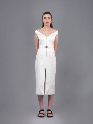 Horizon Dress | White