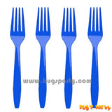 Blue color Plastic Forks