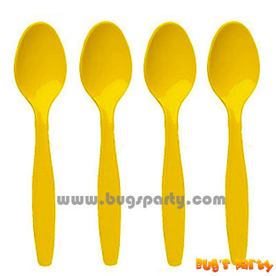 Yellow Sunshine color plastic Spoons