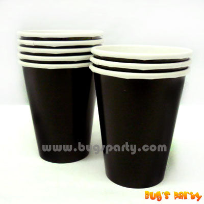 Black color paper Cups