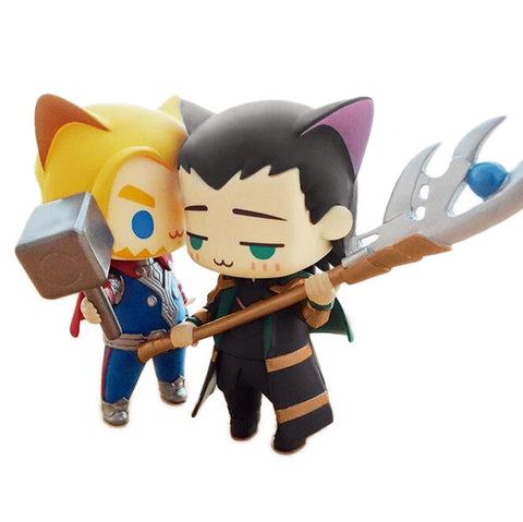 Thor vs Loki Cat Cute Version Figure - DCMarvel.Store