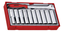 Teng Tools - 11 Piece 1/2 inch Drive Deep Socket Set - TEN-O-TT1211 - Teng Tools USA