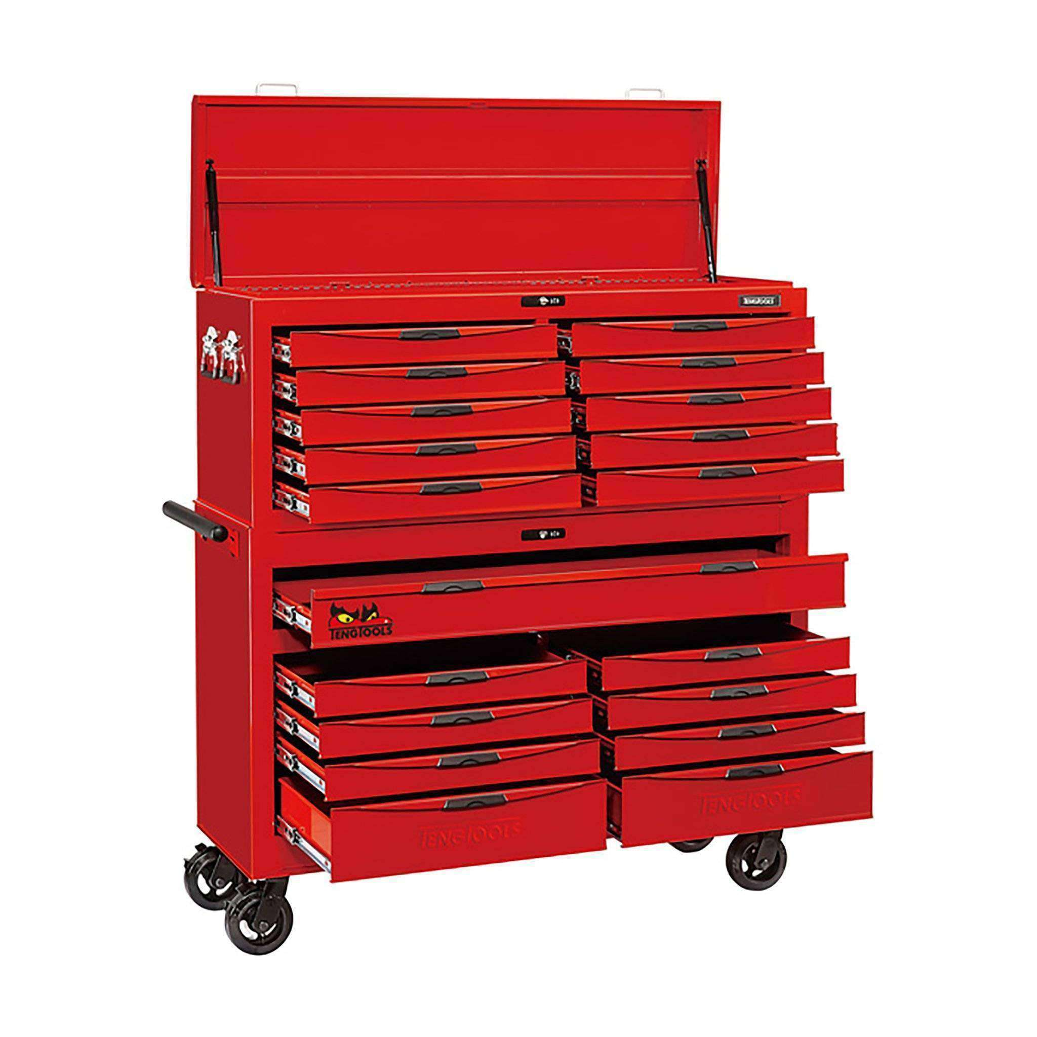"Teng Tools 8 Series 53"" 9 Drawer Roller Cabinet and 10 Drawer Top Box - Teng Tools USA"