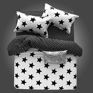 Bedding -3-4 pcs Quilt Cover Set 100% Cotton-Stars pattern (B-110)