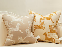 Horses -  Luxury Detailed Cushion Cover - Ginger Yellow (DC-201)