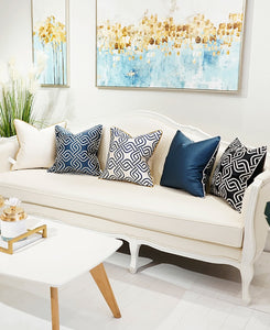 Decorative Embroidery  Luxury Cushion Cover - White (DC-204)