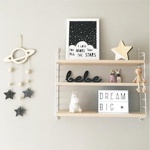Decor- Wooden Wall Baby Mobile - Stars (D-5)