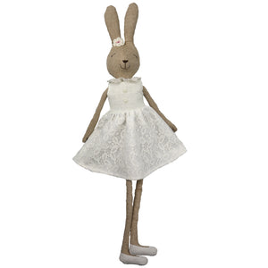 Annabelle -70 cm Dressed Rabbit  plush doll -  White  (T-10)