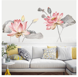 Wall Decals- Lotus Flowers wall decals (W-18)