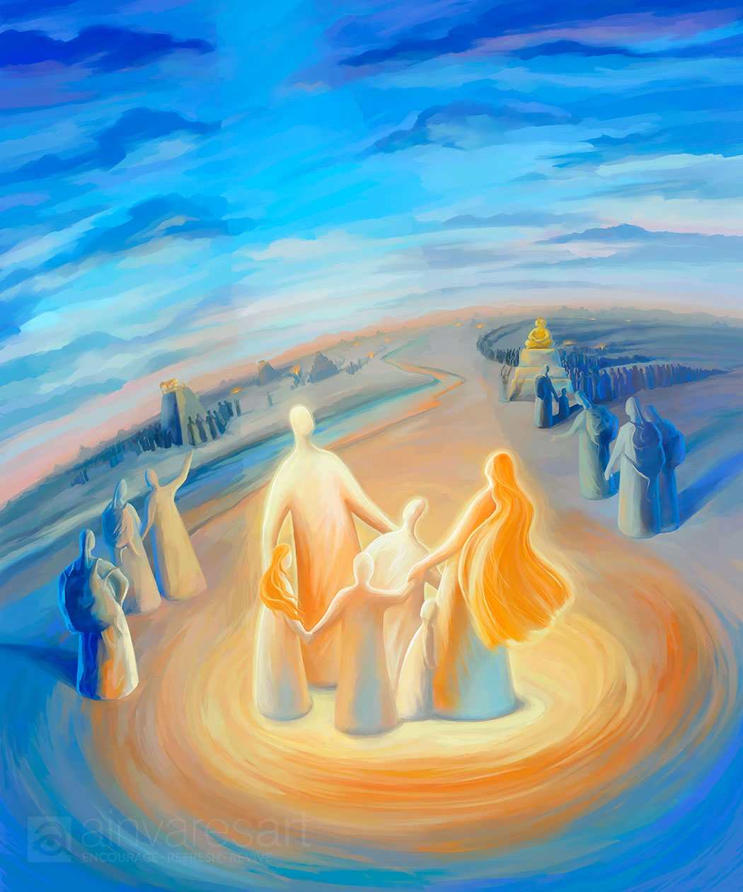 Art print - But as for me and my household, we will serve the Lord, Joshua 24:15  - Ain Vares Art