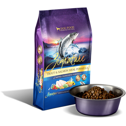 ZIGNATURE TROUT & SALMON MEAL LIMITED INGREDIENT FORMULA GRAIN-FREE DRY DOG FOOD