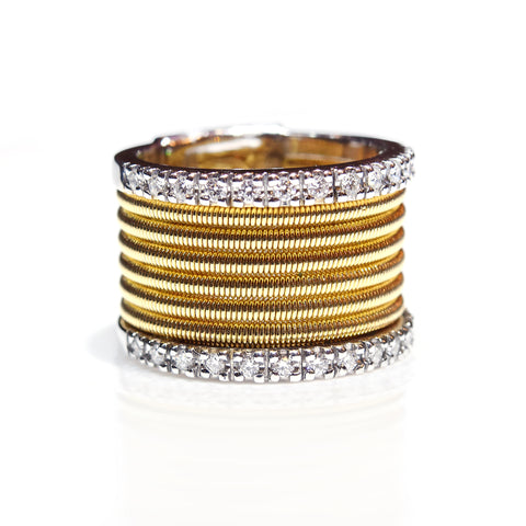 Diamond Gold Wire Ring