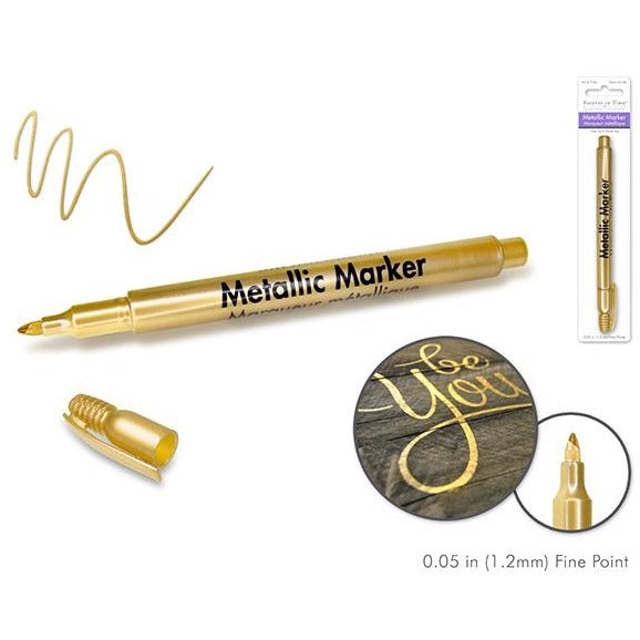 Metallic Permanent Marker Fine Point - Gold