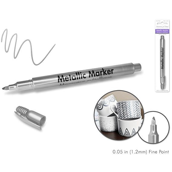 Metallic Permanent Marker Fine Point - Silver