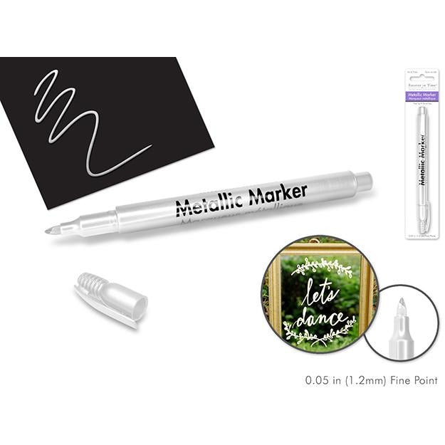 Metallic Permanent Marker Fine Point - White