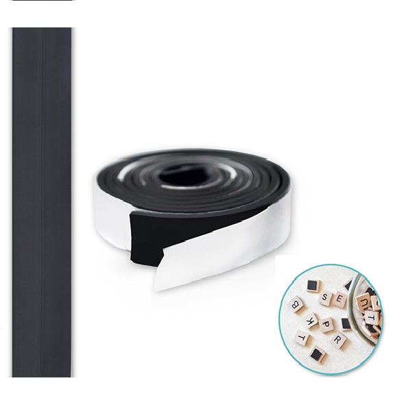 "Magnetic Tape: 1/2""x30"" Strip Peel-n-Stick"