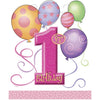 Loot Bags - 1st Birthday Girl, 8/pk