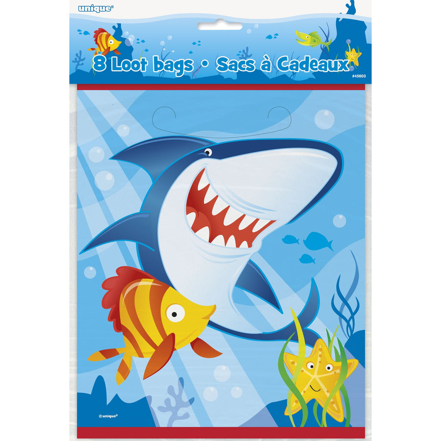 Loot Bags - Shark and Fish, 8/pk