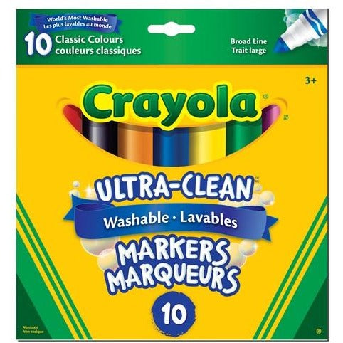 Ultra-Clean Washable Broad Line Markers, 10/pk