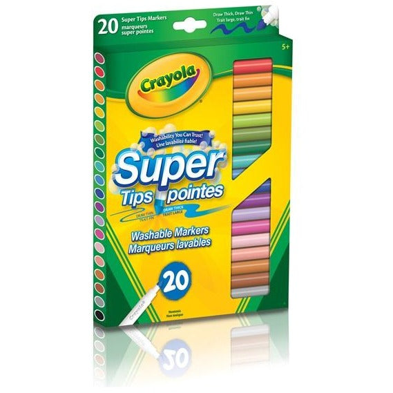 Washable Super Tips, 20/pk