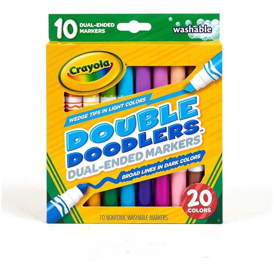 Dual-Ended Washable Double Doodlers Markers, 10/pk