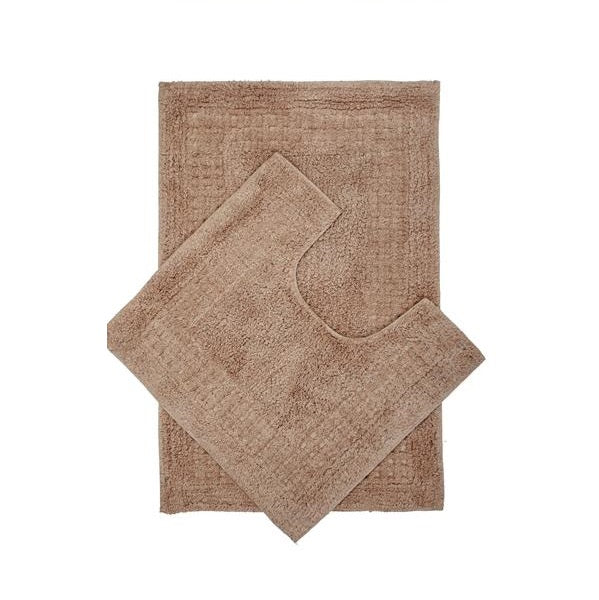 Bathroom Mat Set - Taupe, 2 pieces/pack