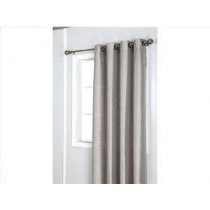 Window Curtain Faux Silk with 8 Grommets - Taupe