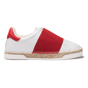 Baskets espadrilles Lancry Space - Rouge