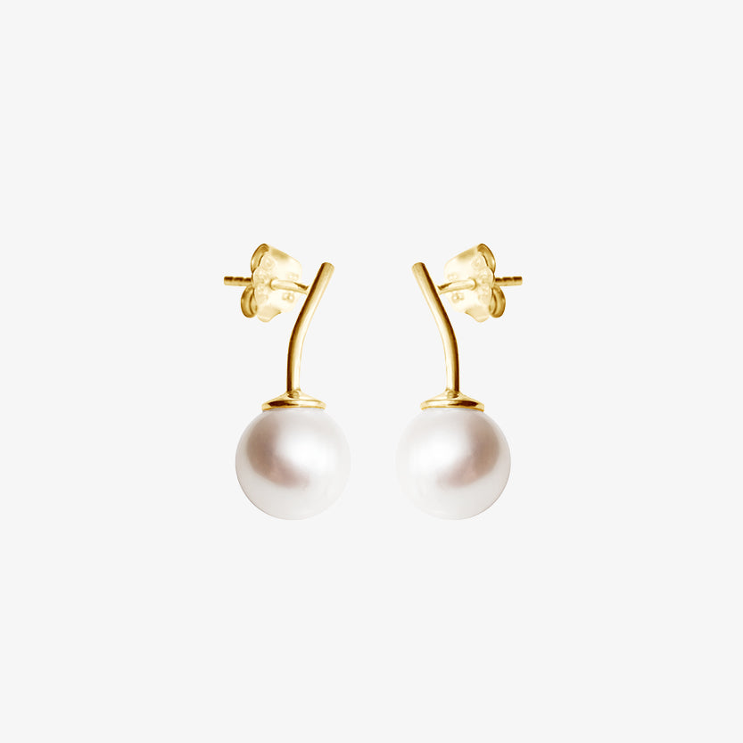 Le Pearl Studs Gold