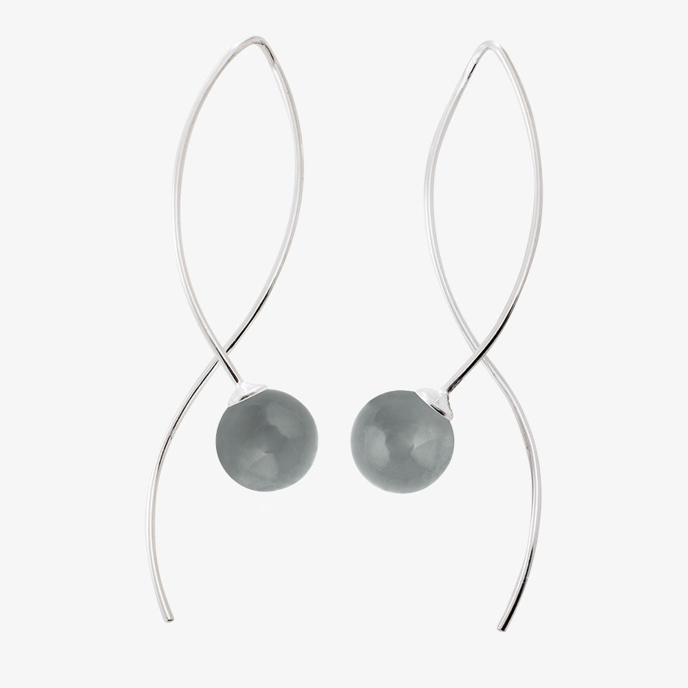 Moon Earrings Smokey