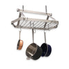 "Retro Rectangle Ceiling Pot Rack w 12 Hooks, 2 S Hooks & 6"" Chain - Enclume Design Products"