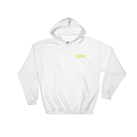 Elmo Gold Logo Embroidered Hooded Sweatshirt