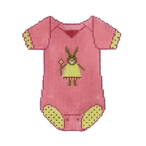 Baby Onesie - Pink Painted Canvas The Meredith Collection