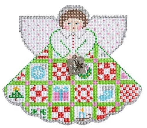 Christmas Quilt Angel Painted Canvas Painted Pony Designs