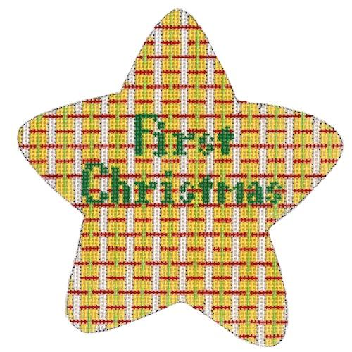 First Christmas Star - Yellow Painted Canvas The Meredith Collection