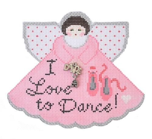 I Love to Dance Angel Painted Canvas Painted Pony Designs