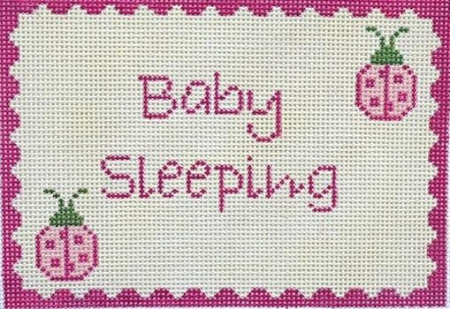Ladybugs Baby Sleeping Painted Canvas J. Child Designs