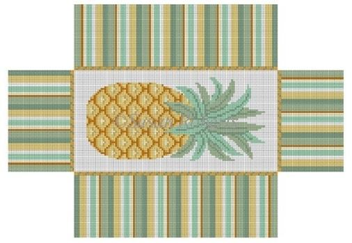 Pineapple Brick Cover Painted Canvas Susan Roberts Needlepoint Designs, Inc.
