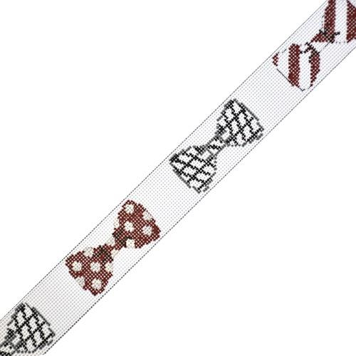 University of Alabama Bow Ties Belt Painted Canvas The Meredith Collection
