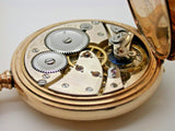 SWISS MADE 19 LIGNE 21 JEWEL HUNTING CASE POCKET WATCH 2B