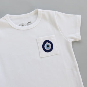 Evil Eye Embroidered Pocket Toddler T-Shirt