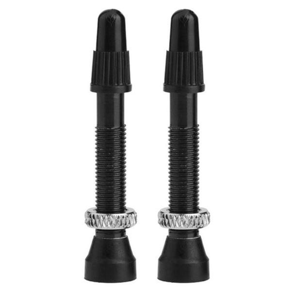 1 Pair 40mm Mountain Road Bike Bicycle Aluminium Alloy Tubeless Presta Valve Stems Bike Tyre Bicycle Accessories