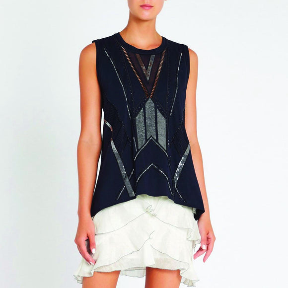 sass & bide On The Horizon Tank Navy