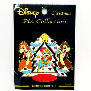JDS - Chip, Dale & Clarice Spinner. Merry Christmas 2002 Pin