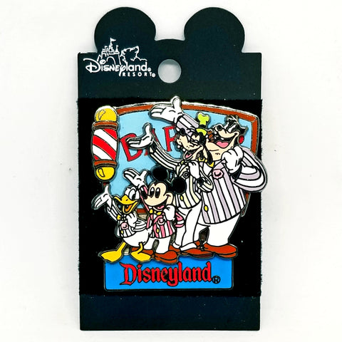 Donald, Mickey, Goofy and Pete - Barber Shop Pin