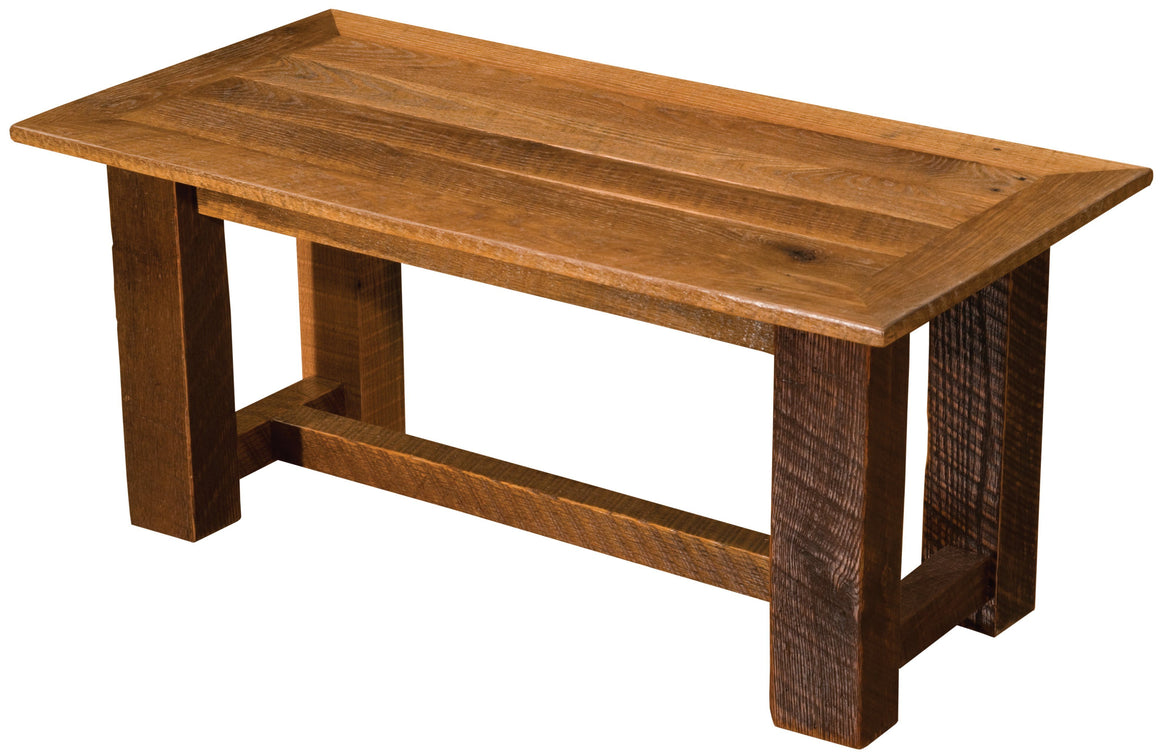 Barnwood Open Coffee Table - Custom Sizes - Reclaimed Tobacco Barn Wood - Rustic Deco Incorporated