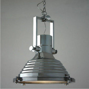 "Chrome Nautical Pendant Light Lighting - Polished - 17"" - Rustic Deco Incorporated"