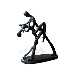 Couple Dancing Dip Metal Sculpture Figurine - Cast Iron - Deco Abstract - Rustic Deco Incorporated
