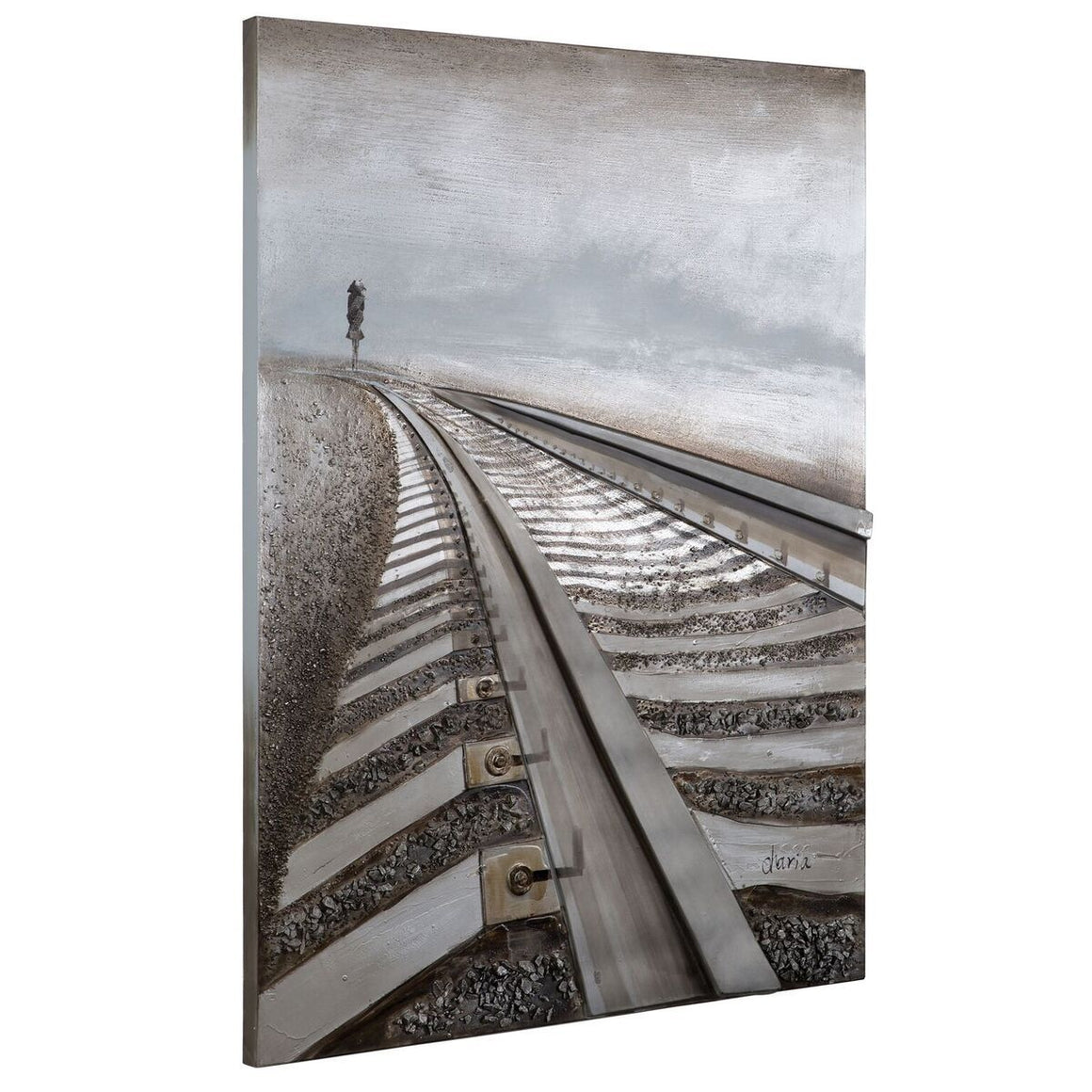 "Destination Anywhere 3D Railroad Wall Art 48"" Tall - Rustic Deco Incorporated"