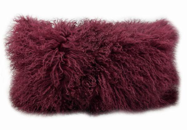 Exotic Cabernet Tibetan Sheep Throw or Rug - Rustic Deco Incorporated